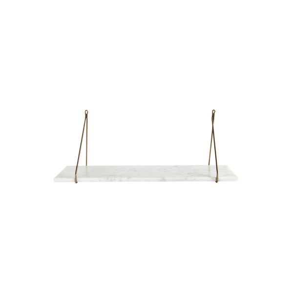 House Doctor - Regal 70x24cm Weisser Marmor, Marble